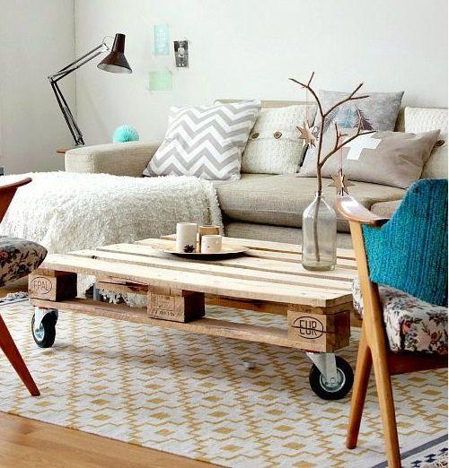 upcyclage palette de bois table de salon